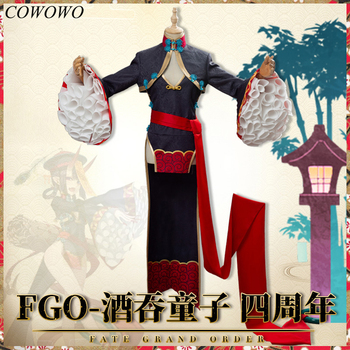 Anime! Fate/Grand Order Shuten Doji 4th Anniversary Zombie Vintage Cheongsam Uniform Cosplay Costume Halloween Free Shipping 1