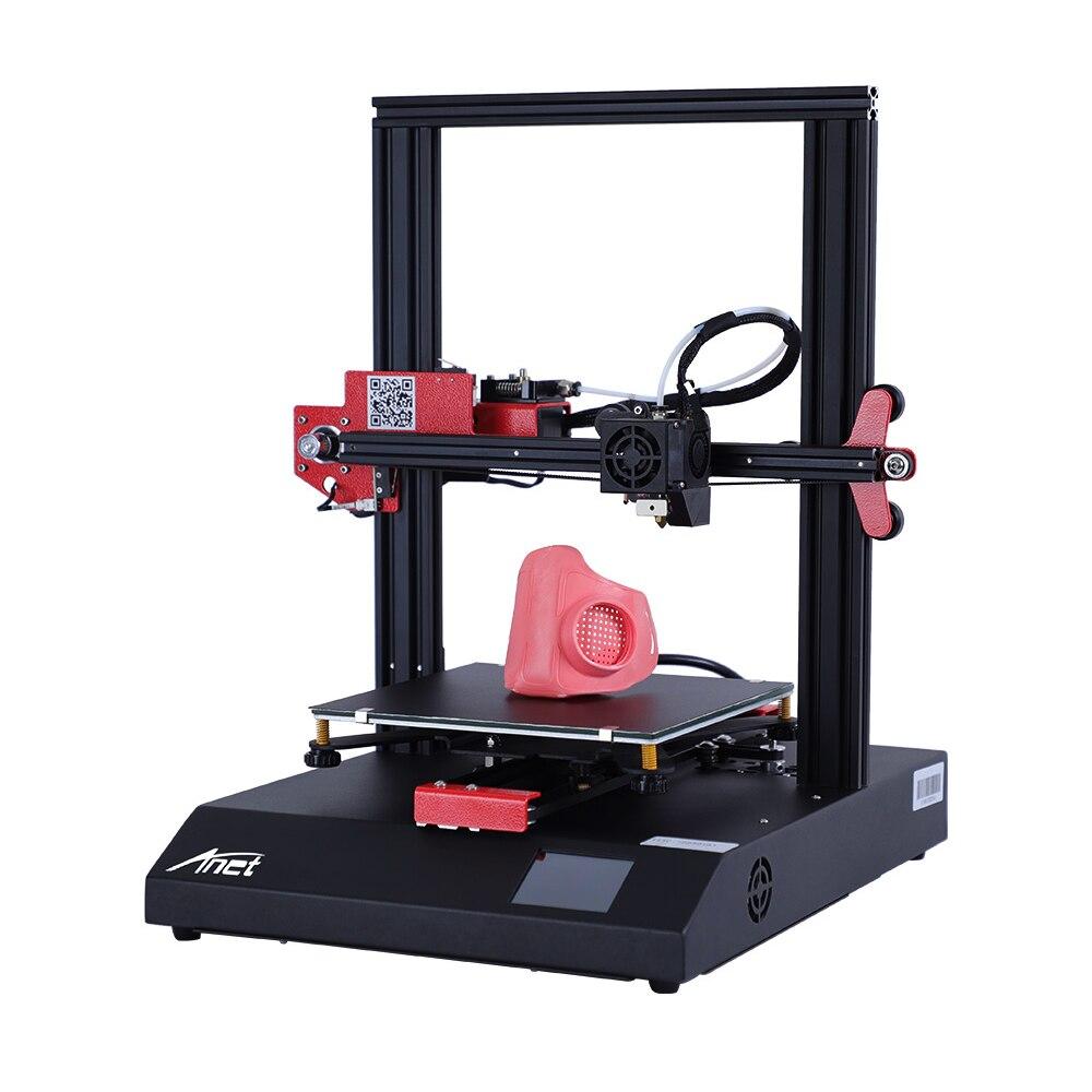 Dengan Harga Murah Anet ET4 A6 Impresora 3d Printer Presisi Tinggi RepRap Prusa I3 3D Printer DIY Kit Off-Line Printing dengan PLA Filamen