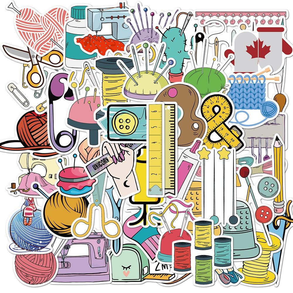 50 шт мультфильм Швейные наклейки для машины скейтборд холодильник гитара ноутбук мотоцикл багаж граффити наклейки Наклейка для ребенка игрушка