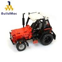 Buildmoc Educational Kids City DIY Creative Bricks Jungle Forest Tractor Figure Building Block Bricks Toys for Children