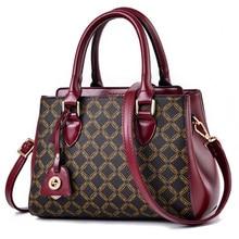 2019 Quality Women Handbags Leather Shoulder Bag Female Patchwork Messenger Bag Printing Ladies Tote Bags For Women Bolsas Sac цена в Москве и Питере