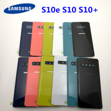 Задняя стеклянная Замена для Samsung Galaxy S10 S10e S10 Plus S10 + крышка батареи задняя дверь корпус камера стеклянная рамка объектива