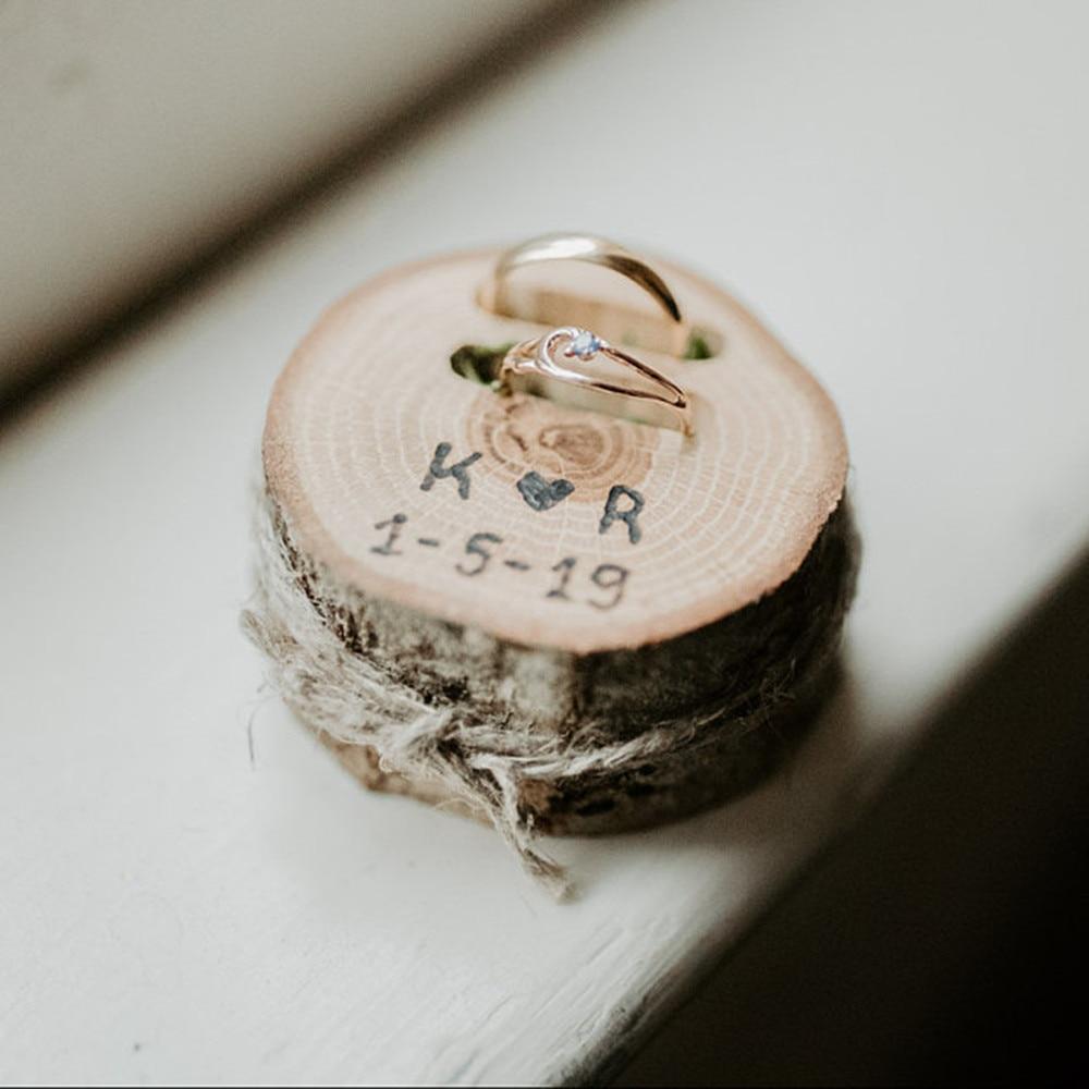 Wedding Ring Holder Rustic