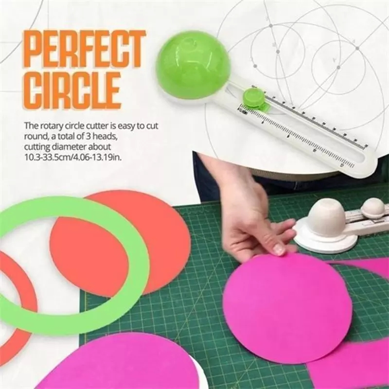 Perfect Circle Shape Cutter Handicraft Cutting Tools Round Cutting Knife Patchwork Compass Circle Scrapbooking DIY Paper-Cutting