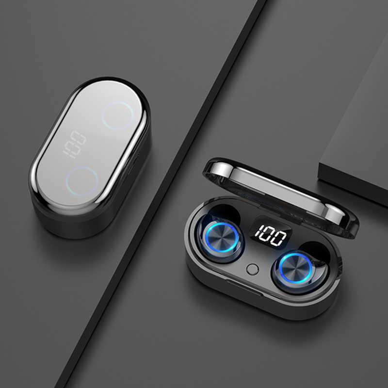 Auriculares Bluetooth TWS-80 9D auriculares inalámbricos estéreo IPX7 auriculares impermeables LED Smart Power Bank soporte para teléfono