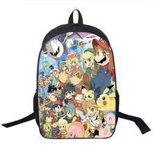 Eevee Gengar Pikachu Backpack High Quality Children Boys Girls School Backpacks back to school