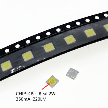 100pcs 6V 2W 350MA 220LM FOR LCD TV Repair LG Led TV backlight Strip Lights With Light-emitting Diode 3535 SMD LED Beads image