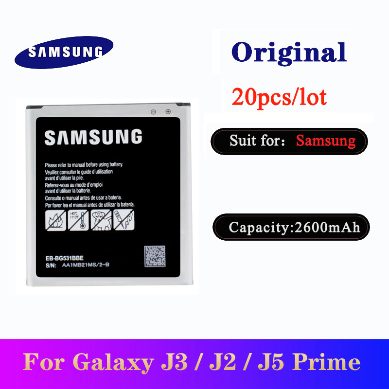 20pcs/lot EB-BG531BBE Battery for <font><b>Samsung</b></font> Galaxy Grand Prime J3 2016 /J2 prime G530 G532F /<font><b>J5</b></font> 2015 G531H/DS Original <font><b>Bateria</b></font> image