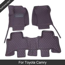 Custom Car Floor Mats For Toyota Camry 70 50 XV40 30 2005 2008 2018 Luxury Waterproof Floor Mat Anti Slip Carpet Leather Car Mat
