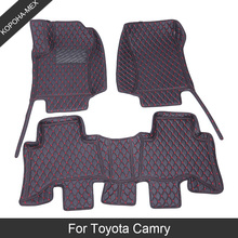 Custom Car Floor Mats For Toyota Camry 70 50 XV40 30 2005 2008 2018 Luxury Waterproof