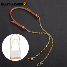 Chain Bag Strap Bag Replacement Strap Crossbody Copper Chain First Layer Vegetable Tanned Leather Shoulder Strap Bag Accessories