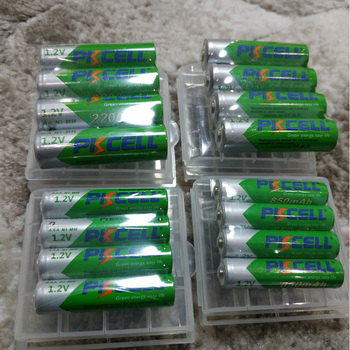 8Pcs PKCELL NIMH Low Self discharge 1.2V AA Rechargeable Battery 2200mAh ni-mh 2a Batteria and 2Pcs Battery Hold Box