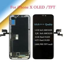 Pantalla táctil AAA ++ para iPhone X AMOLED JK/GX, pantalla táctil OLED suave con ensamblaje de digitalizador GX/ZY Hard OLED, TFT LCD de repuesto