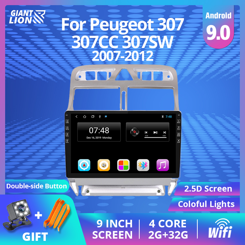 <font><b>2din</b></font> Android 9.0 Car <font><b>Radio</b></font> <font><b>For</b></font> <font><b>Peugeot</b></font> <font><b>307</b></font> 307CC 307SW 2007-2012 Multimedia Video Player Gps Navigation Stereo <font><b>Radio</b></font> <font><b>2Din</b></font> <font><b>Radio</b></font> image