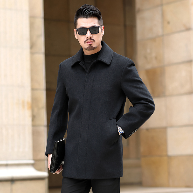 plus size wool coat 8xl 7xl high quality wool coat for men to wear fine wool collar long coat for men to wear cotton collar coat