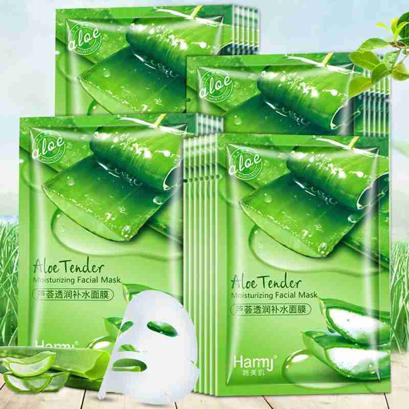 1Pc Aloe Moisturizing Mask Replenishing Water Surface Film To Remove Acne and Control Oil Masks Whitening Skin Care