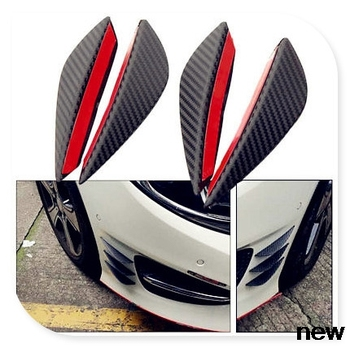 Car Spoiler Canards Front Bumper fin for bmw e92 leon w124 astra k renault twingo passat b for nissan juke image