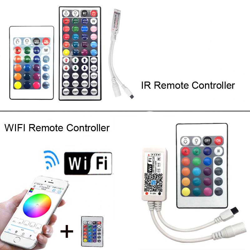 Image 3 - 5M 5050 RGB WIFI LED Strip light Waterproof RGB 10M 15M led ribbon tape Remote WIFI Wireless Controller 12V power adapter Kit-in LED Strips from Lights & Lighting