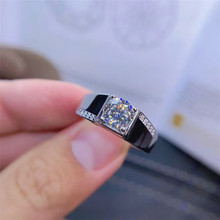 man D Color Moissanite Man Ring 925 Silver Moissanite Ring for Man Fashion Man Moissanite Jewelry