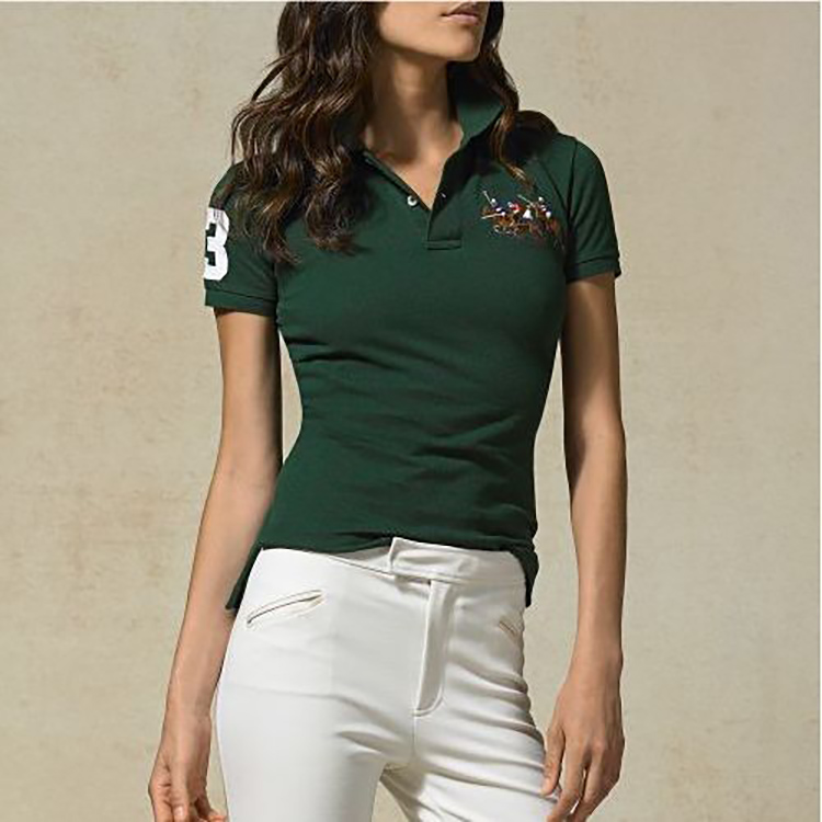 Top Quality Polos Mujer 2020 Summer New Polo Women's Shirt Breathable Polo Shirts Cotton Casual Solid Colour Lady Tees Fashion