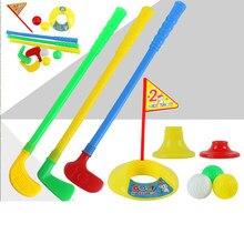 1Set Plastic Golf Toys for Kids Children Funny Sports Plastic Golf Exercise Beginner Mini Putter Golf Club Child Ball Training