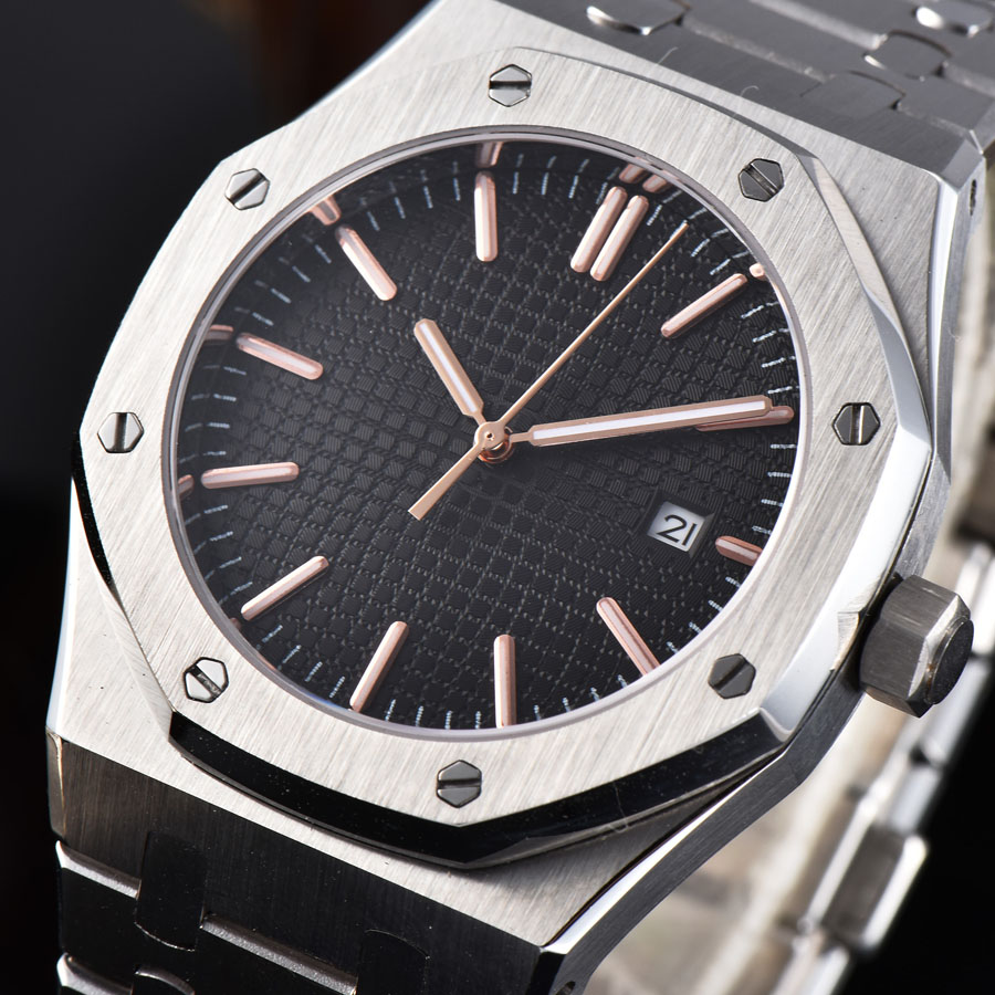 watch men 316L Solid stainless steel automatic mechanical watch date Luminous waterproof 41MM LM44