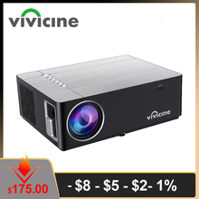 Vivicine M20 הכי חדש 1080p מקרן, אפשרות אנדרואיד 10.0 1920x1080 מלא HD LED קולנוע ביתי וידאו מקרן מקרן תומך AC3