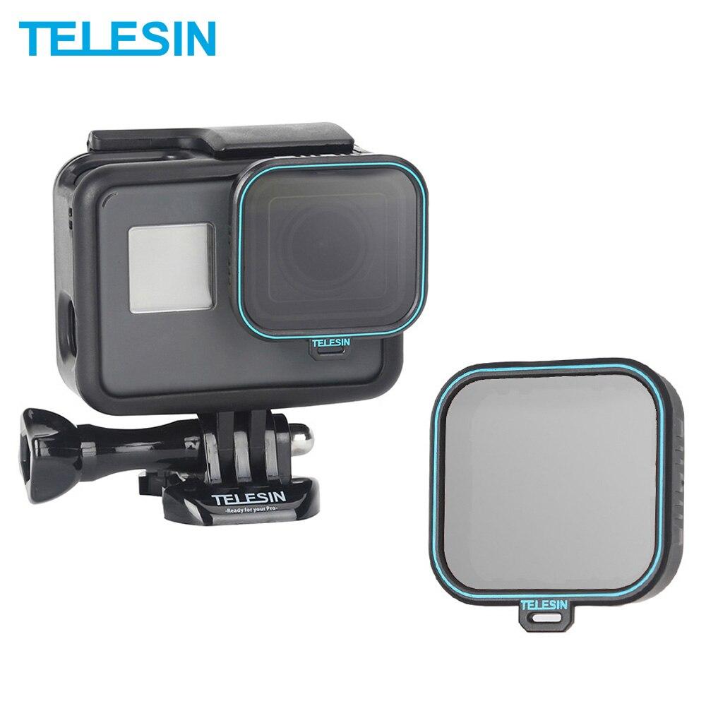 TELESIN Polarizing Filter Polarizer Filter CPL Lens Filter   Lens Cap for GoPro Hero 5 6 7 Black Photography Accessories