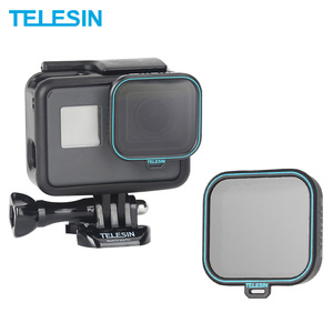 TELESIN Polarizing Filter Polarizer Filter CPL Lens Filter + Lens Cap for GoPro Hero 5 6 7 Black Photography Accessories(China)