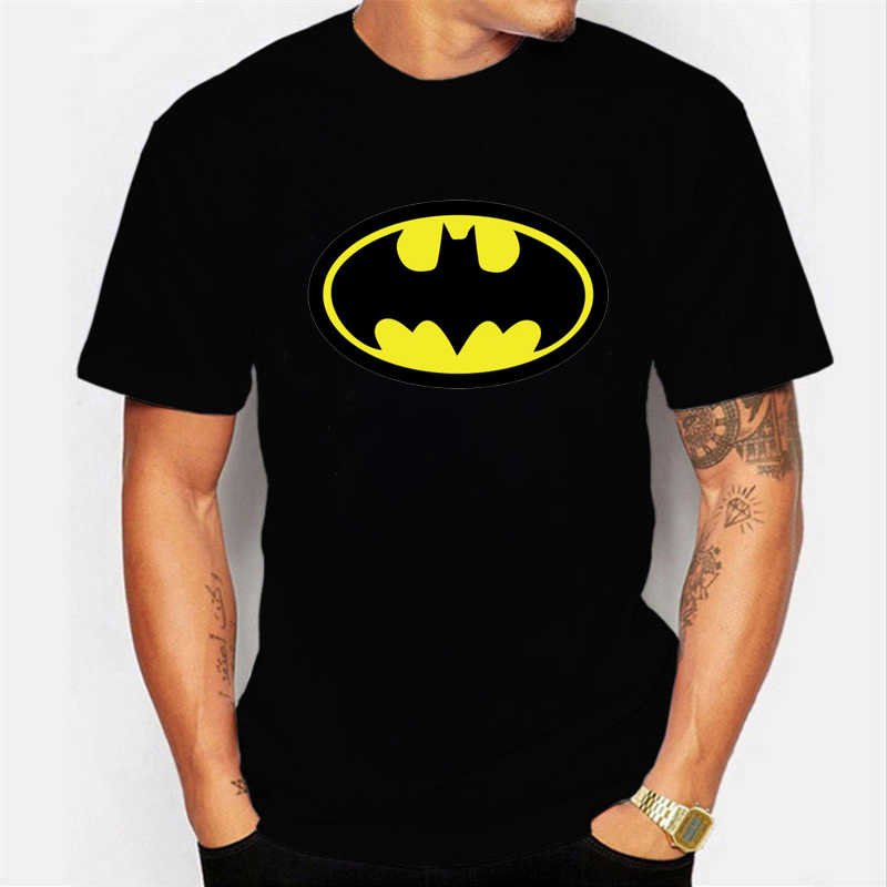 Летняя Новинка, Мужская футболка с принтом Бэтмена, футболка супергероя, хлопковая футболка с короткими рукавами, футболки, классная одежда, мужская футболка Harajuku