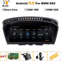 8.8 1280*480 IPS PX6 Hexa Core 4G+32G Android 9 GPS Navigation Multimedia Player For BMW 5 Series E60 E61 E62 E63 Bluetooth