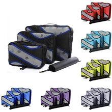 Waterproof Packing Cubes Travel Luggage Organizer Double Zip Packing Cube Mesh Nylon Men Women Travel Bag Large Capacity Bags
