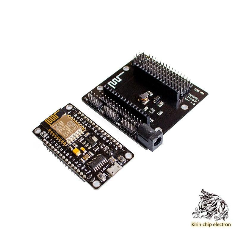 2pcs / Lot Nodemcu Backplane + Nodemcu V3 Lua WiFi Development Board Esp8266 Serial WiFi Module