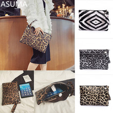 Handbag Fashion Women Leopard Bucket Bag Messenger Ladies Zebra Leather Simple Crossbody Envelope Evening Bags