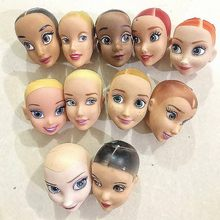 Rapunzel Prinses Mermaid Originele Pop Hoofd/Brown & Black & Normale Huid Bald Head Pop Accessoires Diy Voor 1/6 pop(China)