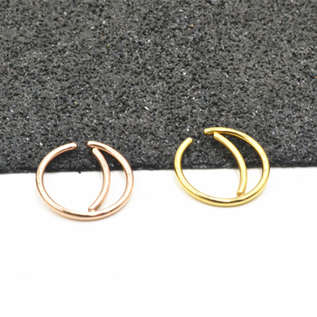 2 Pcs lot Surgical Steel Clicker Segment Nose Hoop Ring Body Piercing Jewelry Tragus Stud Cartilage.jpg 640x640 - 2 Pcs/lot Surgical Steel Clicker Segment Nose Hoop Ring Body Piercing Jewelry Tragus Stud Cartilage Helix Earring