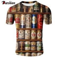 New arrive Novelty Fashion 3D Tshirt Men Cans of Beer Printed Hip Hop Crewneck Short Sleeve Men/Women T-shirt Tee Tops Wholesale