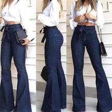 2020 wysokiej talii dżinsy z szeroką nogawką marki kobiet dżinsy typu Boyfriend Denim Skinny kobieta w stylu Vintage jeansy rozkloszowane Plus rozmiar 2XL Pant tanie tanio GAOKE Poliester Pełnej długości Osób w wieku 18-35 lat 586824 WOMEN Na co dzień Zmiękczania Wysoka Przycisk fly Skrzydeł