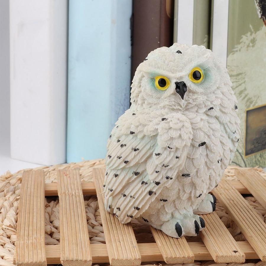 Owl Ornament Resin Simulated Owl-shaped Garden Statue Outdoor Sculpture Lawn Garden Scene Decor