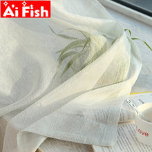 Pure White Window Screen Sheer Fabric Simple Modern Shiny Silver Wire Stripe Gold Tulle Curtain for Living Room Bedroom M135-50(China)