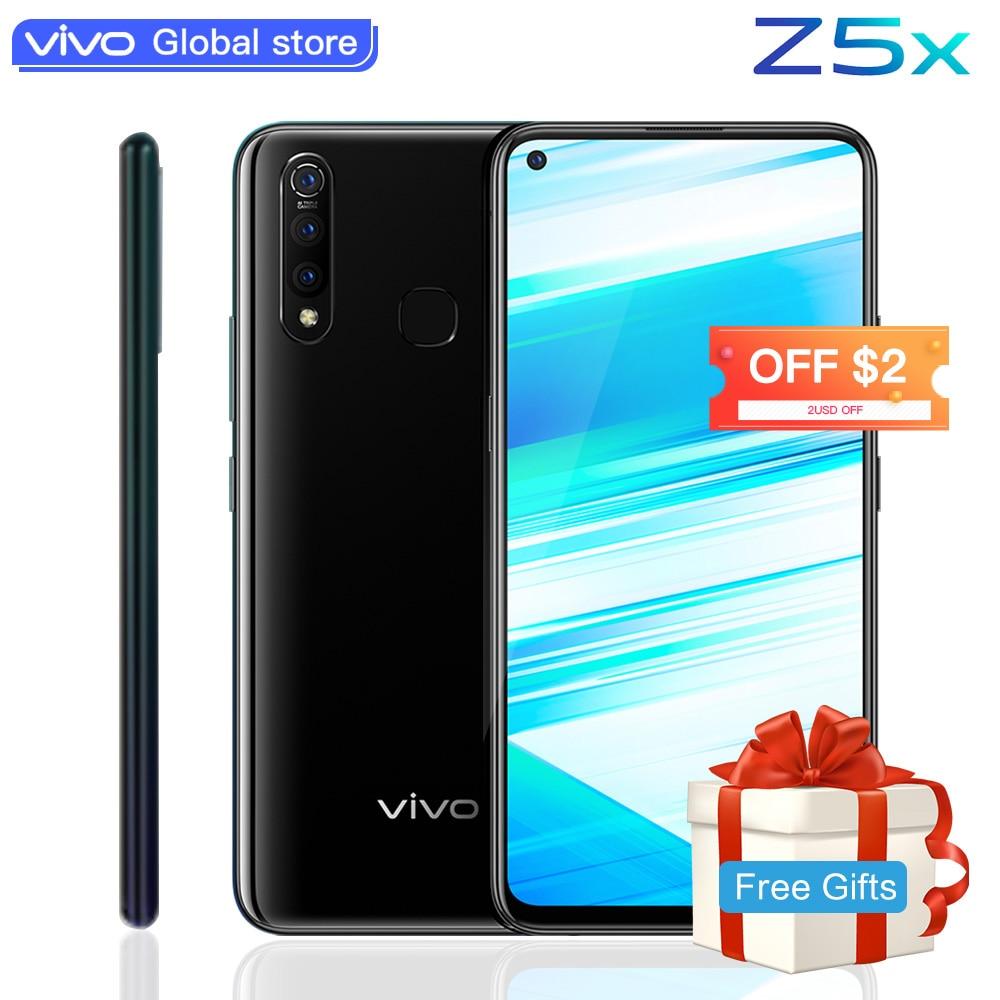 Téléphone portable d'origine vivo Z5x celulaire 6.53 écran 6G 128G Snapdragon710 Octa Core Android 9 5000mAh grande batterie Smartphone