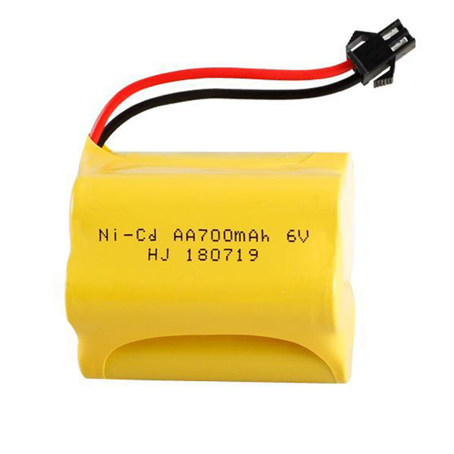T model 6V NI-CD AA Battery and cable for RC Toy Electric toy security facilities electric toy parts AA 6 v 700 mah battery pack