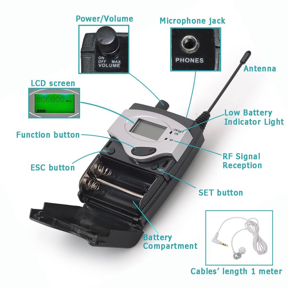 EM-600 Drahtlose In-Ear-Monitor System Professional Bühne Leistung Ohr Überwachung Systeme mit Einem Taschensender