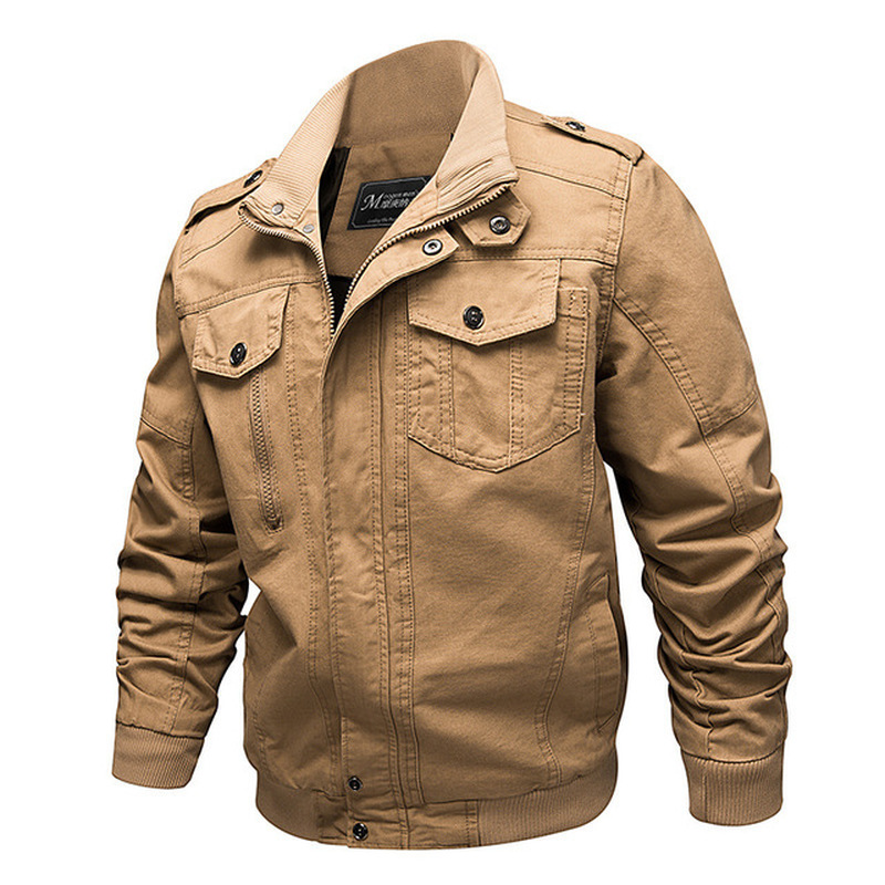 Image 2 - New Mens Jackets Military MA 1 Style Army Jackets Male Brand  Clothes Mens Bomber Jeans Jackets Plus Size M 6XL Streetwear  CottonJackets