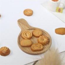 7 unidades/pacote 1:12 casa de bonecas miniatura mini biscoito casa de boneca acessórios de alimentos