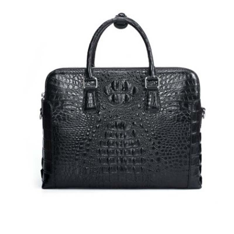 Dongou Siam  Crocodile  Men's Bags  Business  Leisure  Genuine Leather  Handbag  Can Be Inclined Back   Computer  Men Briefcase