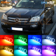 For Mercedes-Benz GL-Class X164 GL450 2007-2012 Excellent Angel Eyes kit Multi-Color Ultrabright RGB LED Angel Eyes Halo Rings