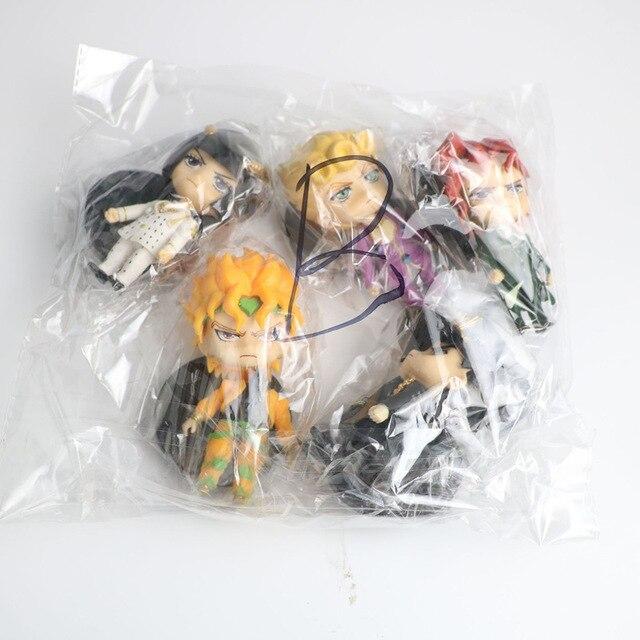5PCS anime jojo bizarre adventure figure Kujo Jotaro figurine Higashikata Josuke Kakyoin Noriaki Action Figure model toy 10-11CM 4