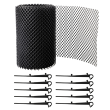 Mesh-Cover Gutter-Guard Easy-Install Drain Ce with Stakes Stops-Leaves Anti-Clogging