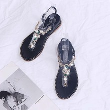 Summer Wedges Shoes For Women Crystal Rhinestone Sandals Comfort Beach Shoes Woman Fashion Slip On Sandals Women Casual Shoes new 2017 summer fashion sexy girl rhinestone flowers golden slippers high wedges heels sandals women slip on woman casual shoes
